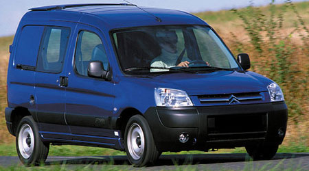 CITROEN Berlingo I 1996 → 2008 2-ой ряд сплошной